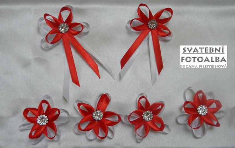 svatební vývazek na myrtu, vývazek, myrta, svatba, červená