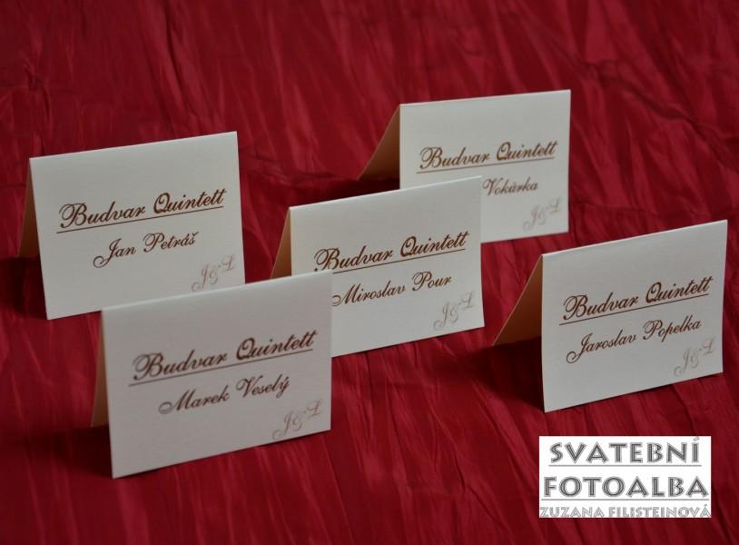 svatební jmenovka na stůl, oznámení