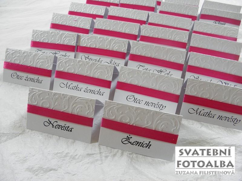 jmenovka na svatební stůl, oznámení, svatba