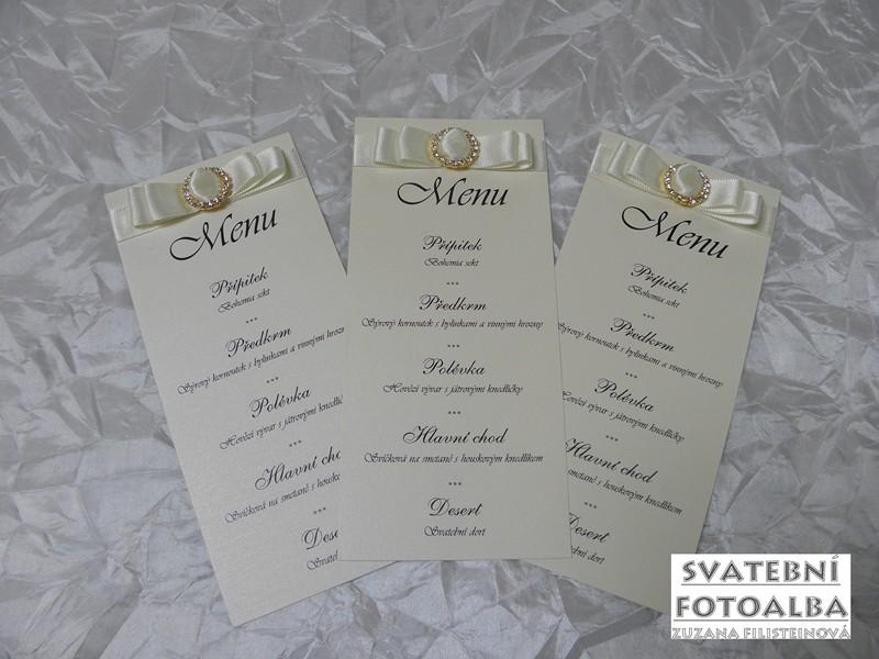 set oznámení, menu, jmenovky, vývazky, pozvánka ke stolu