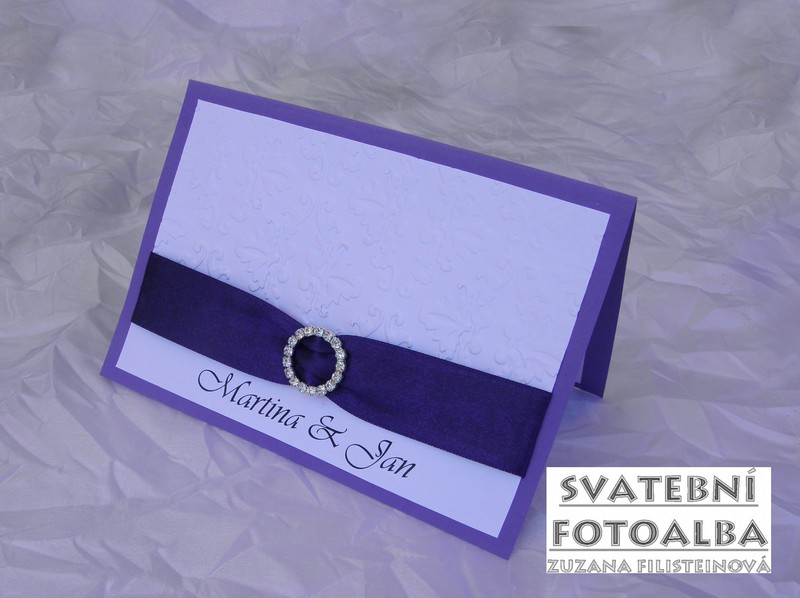 svatební oznámení, jmenovka na stůl, pozvánka ke stolu, menu