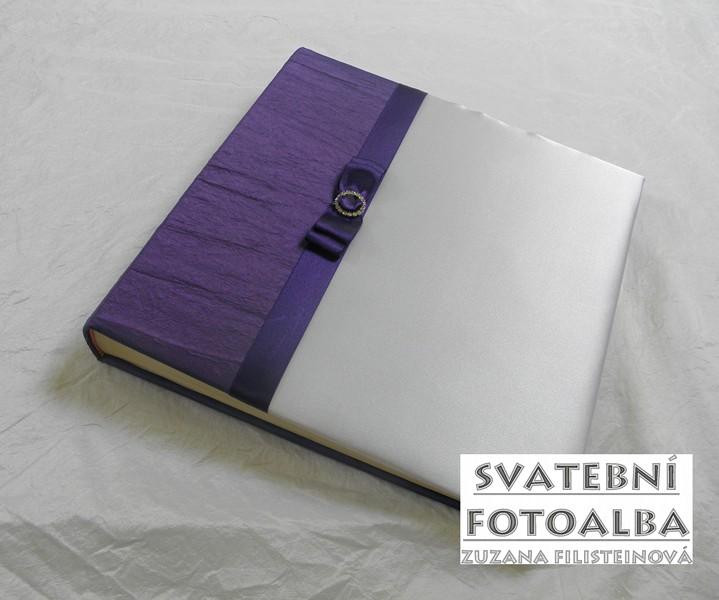 svatební fotoalbum, fialová, kniha hostů, desky na oddací list