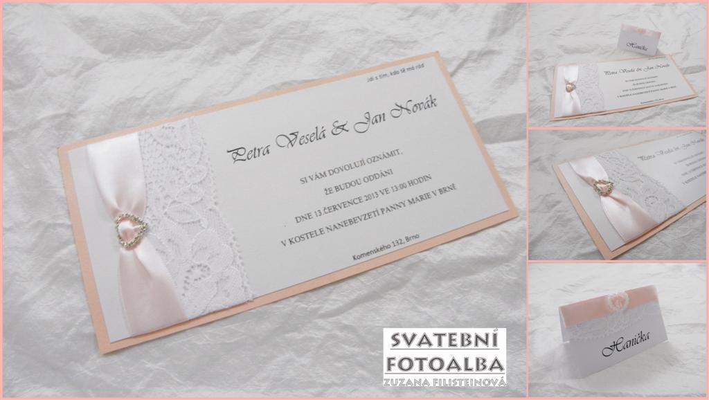 svatební oznámení, jmenovka, svatební fotoalbum, knoha hostů, svatba