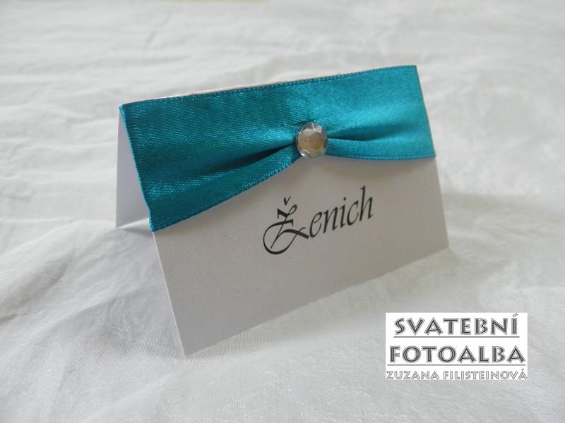 jmenovka na svatební stůl, oznámení