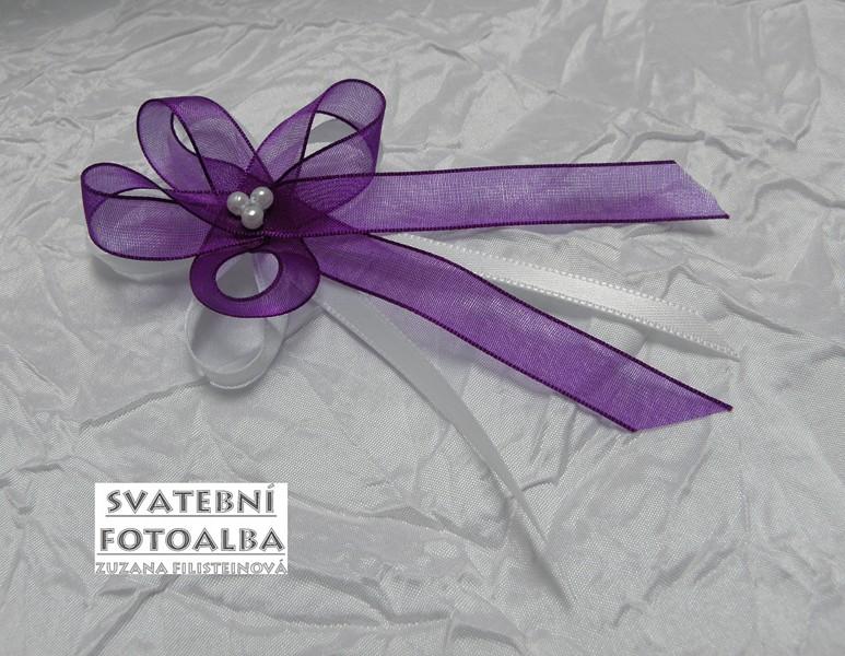 svatební vývazek, světle fialová